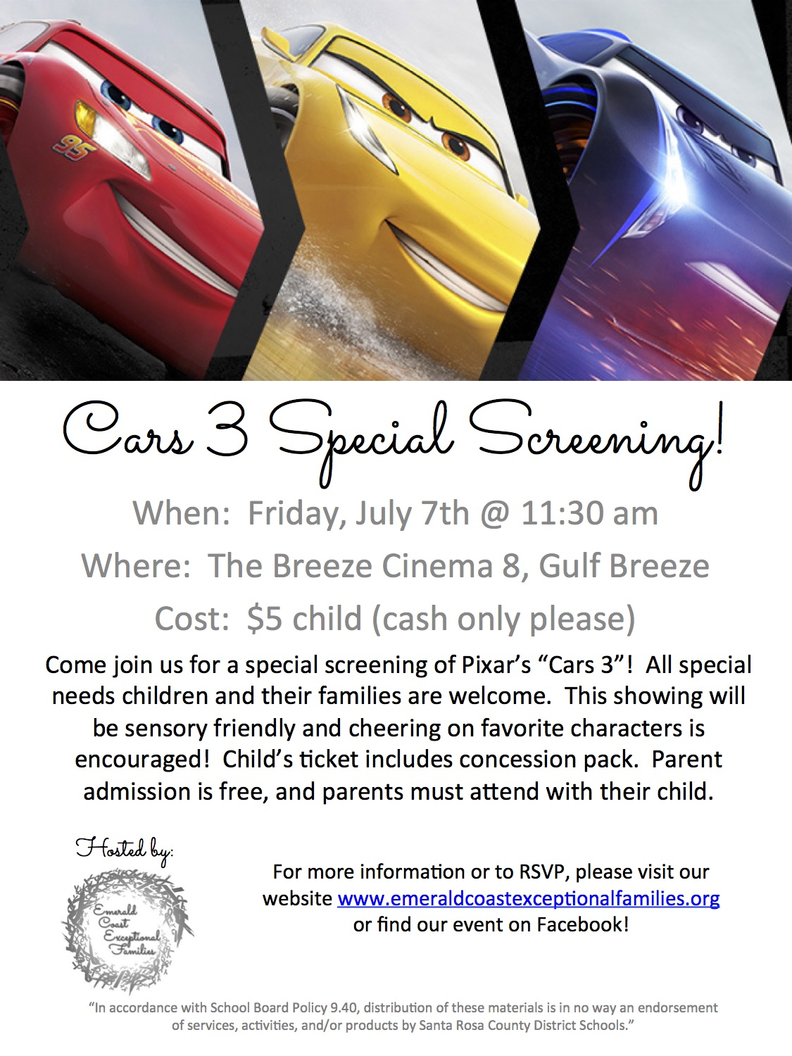 cars 3 flyer