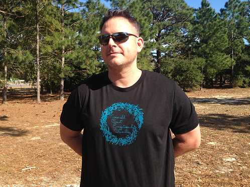 Adult shirt - Black with teal logo