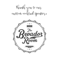 Thank you to our custom cocktail sponsor