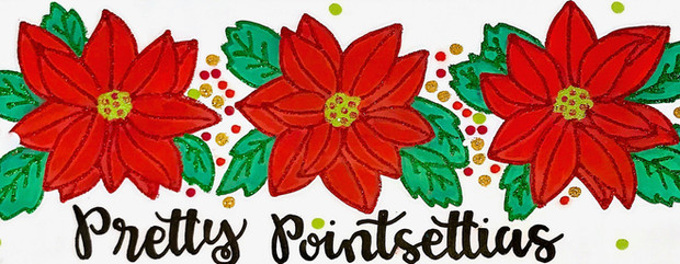Design: Pretty Poinsettias