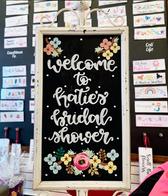 Custom Bridal Shower Welcome Signage