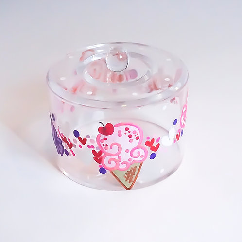 Round Candy Dish with Lid