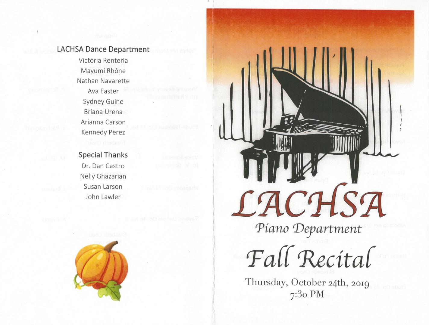 Piano Recital Collaboration