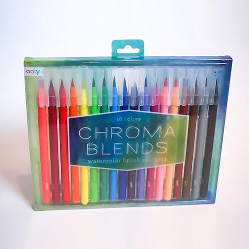 Brush-Tip Watercolor Markers