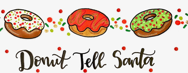 Design: Donut Tell Santa