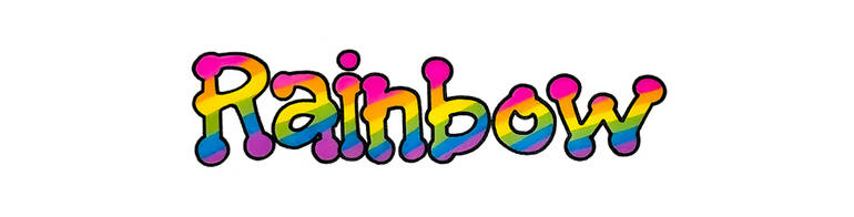 This is a sample of RAINBOW TINKERTOY OUTLINED in Bright Colors