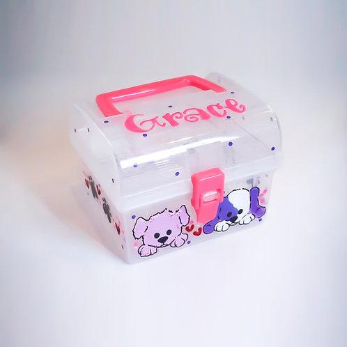 Small Handle Box - Glitter Plastic