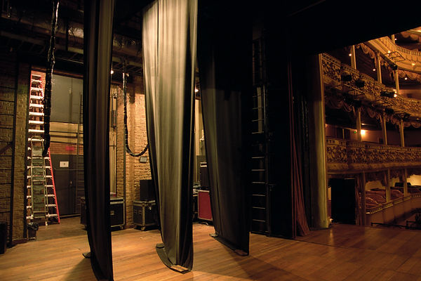 Backstage of a theatre
