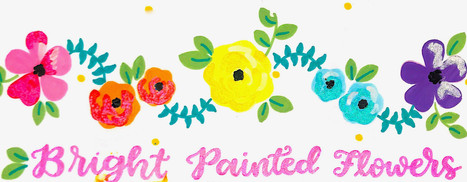 Design: Bright Painted Flowers