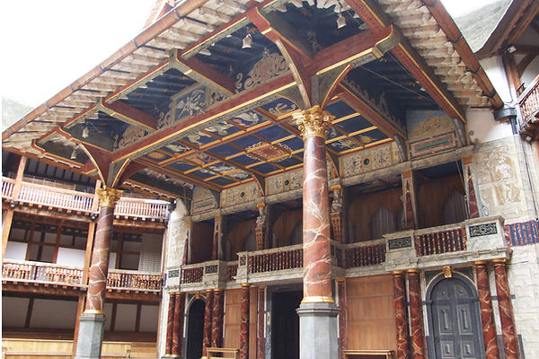The stage of the Globe Theatre in London