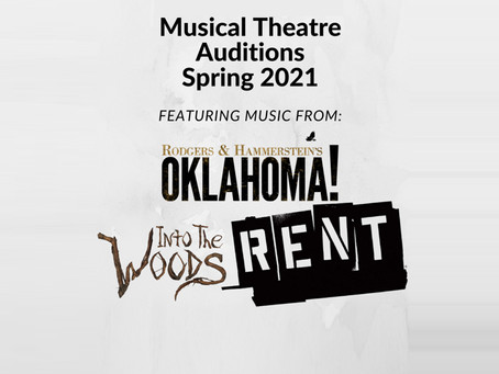 Musical Theatre Spring Audition Info