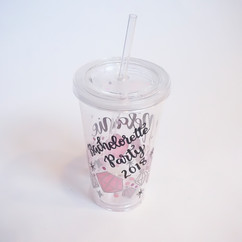 Acrylic Cup with Straw