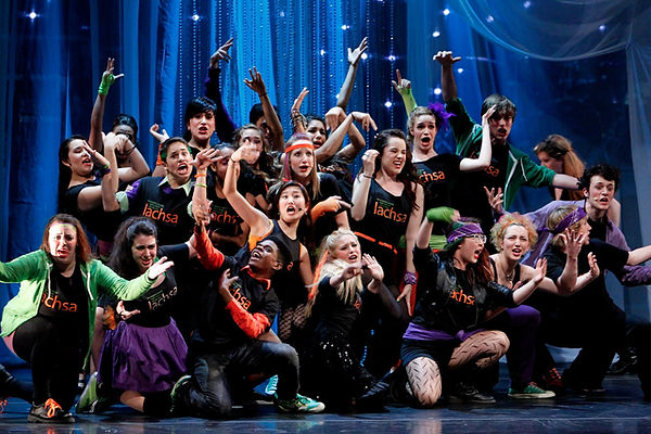 LACHSA musical theatre students pose
