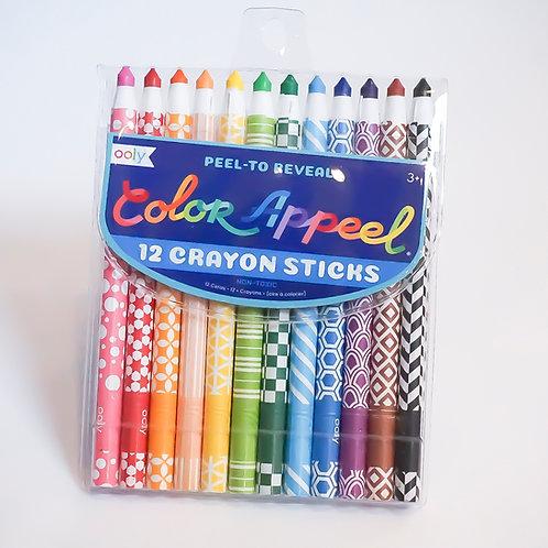 Peel-Away Colored Crayons