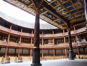 The audience gallery of the Globe Theatre in London