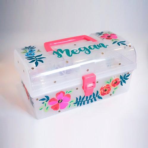 Large Handle Box - Glitter Plastic