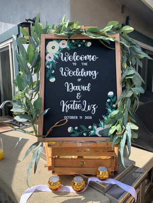 Custom Wedding Welcome Sign
