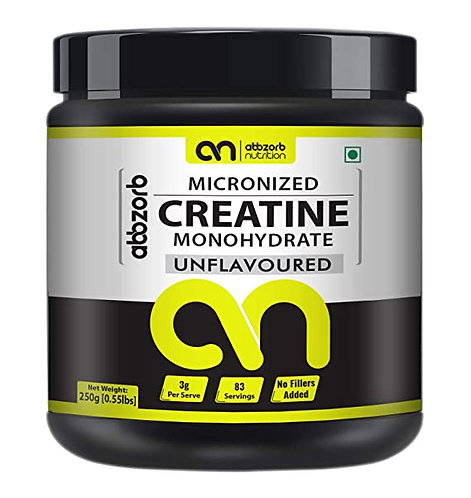 Abbzorb Nutrition Micronised Creatine Monohydrate 83 Servings -250 g