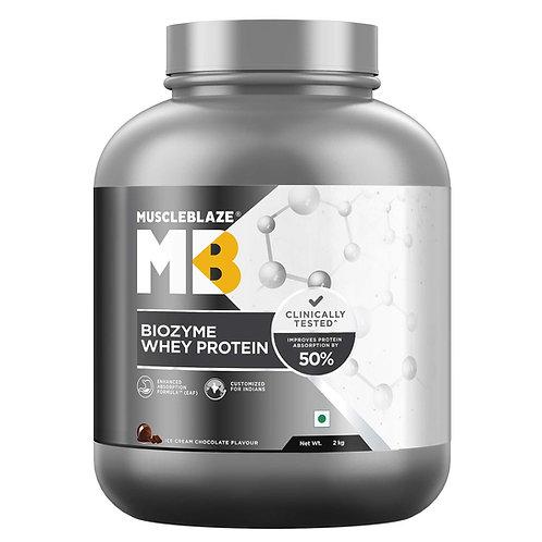 MuscleBlaze Biozyme Whey Protein ( 2 Kg, Ice Cream Chocolate) (2 Kg, Rich Milk C