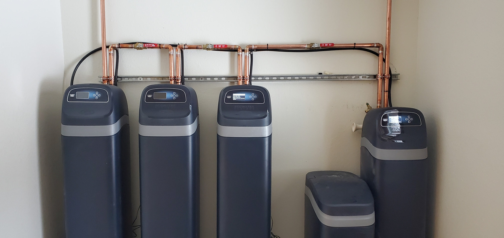 Alaska EcoWater Installation Whole Home Refiner and softener