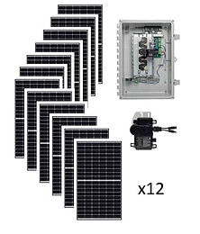 3.9kW Starter Solar Kit Renewable Energy Systems of Alaska Basic Grid-Tie Solar