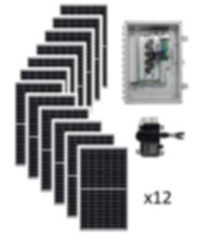 3.9kW Starter Solar Kit Renewable Energy Systems of Alaska Basic Grid-Tie Solar