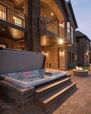 sundance hot tub deck