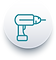 sliding susan easy install orgaizers, drill icon