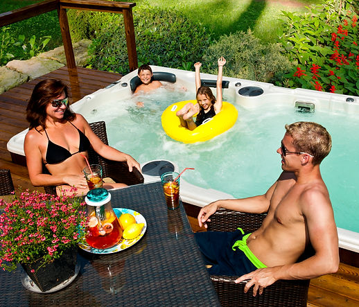 Family swimming Swim Spas in Montana Hydropool Endless Swimming Pool Big Sky Spas Billings