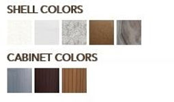 880 Shell & Cabinet Colors