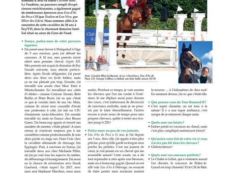 LE CAVALIER ROMAND PARLE DE NOUS !