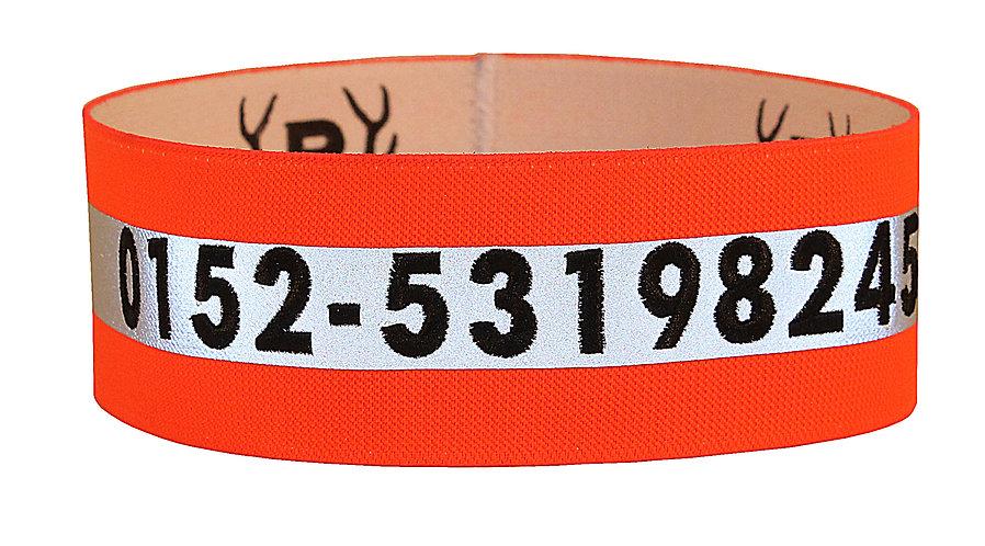 Hondensignaalband met telefoonnummer