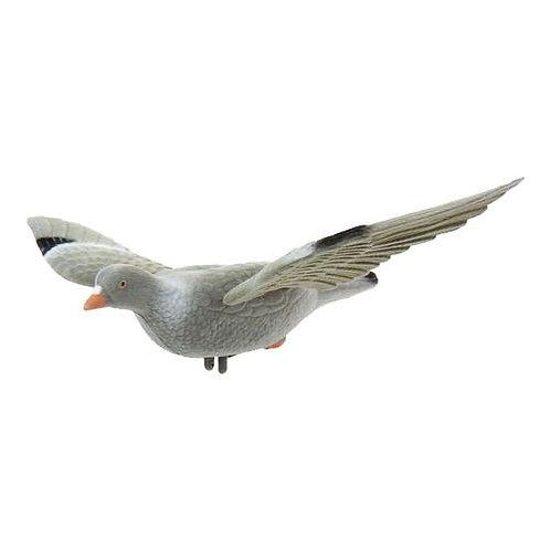 Geflokte Houtduif met vleugels