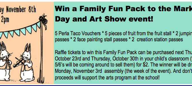 Win a Family Fun Pack to the Market Day and Art Show event