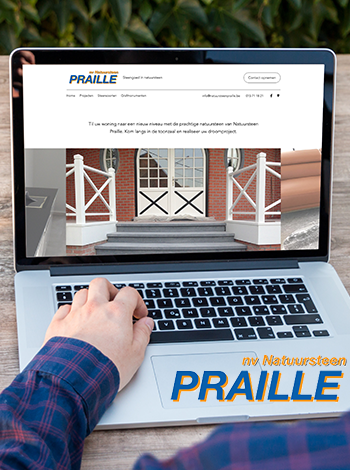 Website Natuursteen Praille