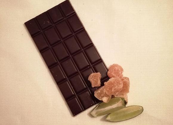 Ginger and Lime Chocolate Bar