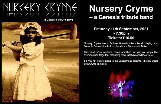Nursery Cryme - Fundraiser for The Leatherhead Theatre