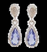Aretes con diamantes y gemas