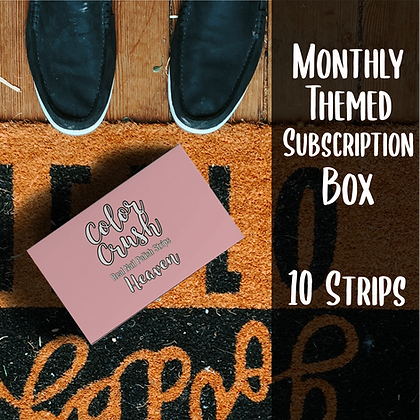 Monthly Themed Subscription Box (10 Strips)