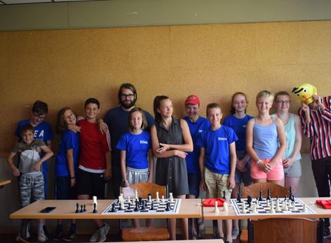 Aankomst deelnemers en schaakkamp dag 1