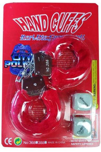 Набор наручники и кубик