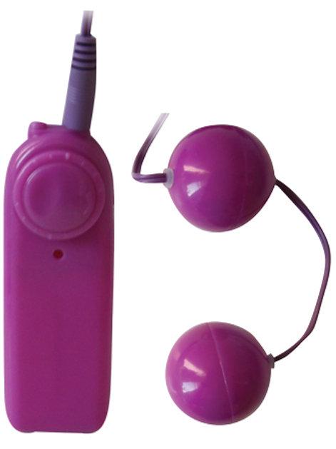 ШАРИКИ ВАГИНАЛЬНЫЕ С ВИБРАЦИЕЙ цвет фиолетовый D 35 мм