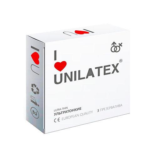 """ПРЕЗЕРВАТИВЫ UNILATEX """"ULTRA THIN"""" ультратонкие"""
