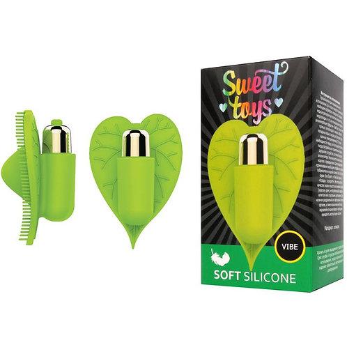 Насадка-вибромассажер для эрогенных зон от компании Sweet Toys, цвет зеленый, st