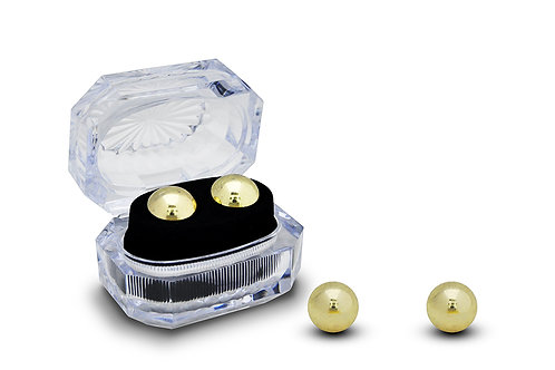 ВАГИНАЛЬНЫЕ ШАРИКИ без сцепки, цвет золото, металл D 20mm