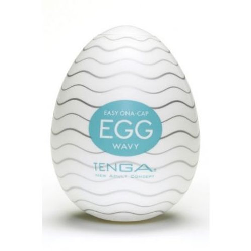Оригинальный мастурбатор яичко от компании Tenga - «Egg Wavy», цвет белый, EGG-0
