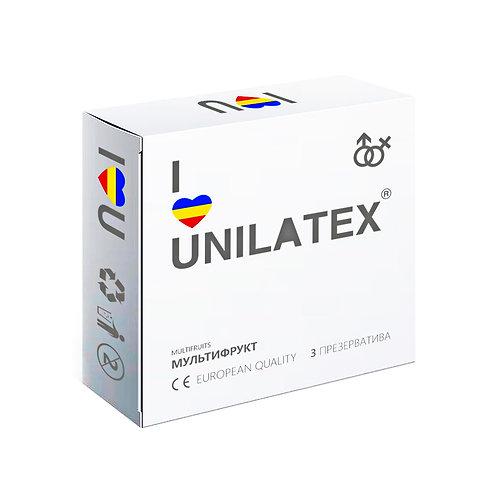 """ПРЕЗЕРВАТИВЫ UNILATEX """"MULTIFRUITS"""" цветные ароматизированные, 3 шт.,"""