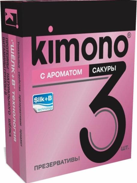 ПРЕЗЕРВАТИВЫ KIMONO (с ароматом сакуры) 3 шт.