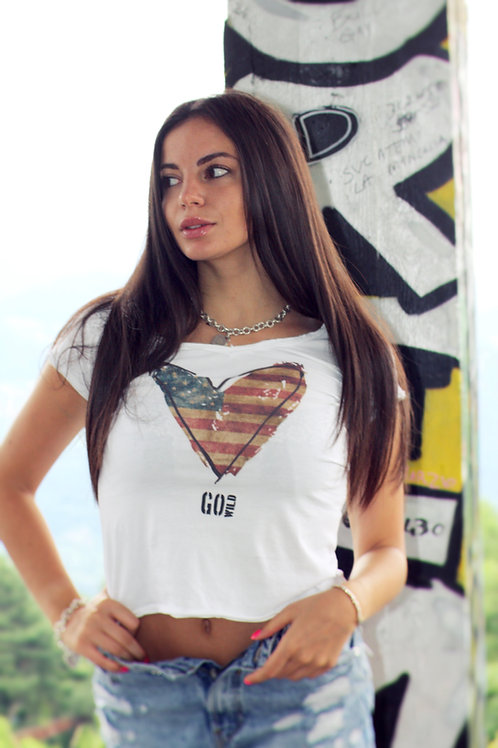 T-shirt Go Wild DONNA - US HEART