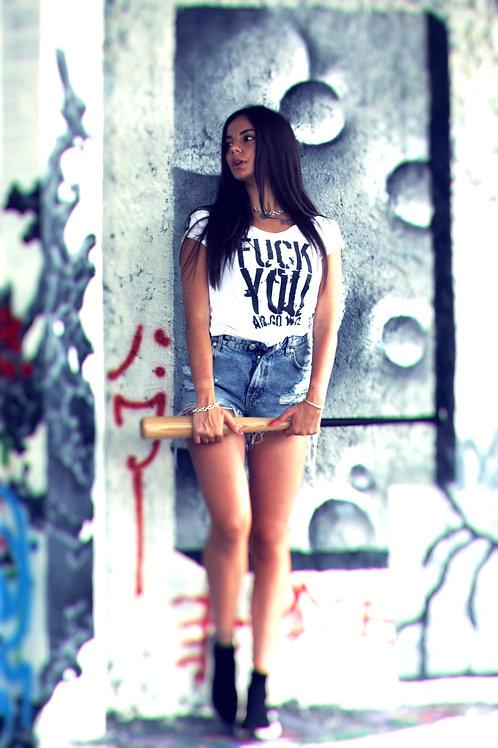 T-shirt Go Wild DONNA - FUCK YOU